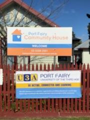 PFCH partnership with U3A Port Fairy