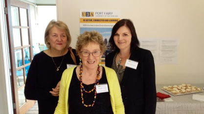 Pam Grendon, Maggie Currie and Emma Riddington