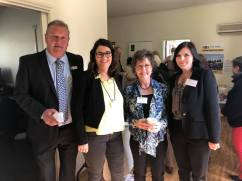 Mayor Mick Wolfe, Roma Britnell MP, Kate Donelan and Emma Riddington from Moyne Shire