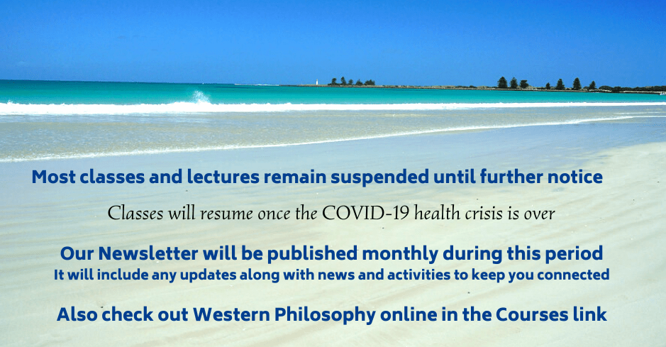 MOST classes and lectures suspended until further notice